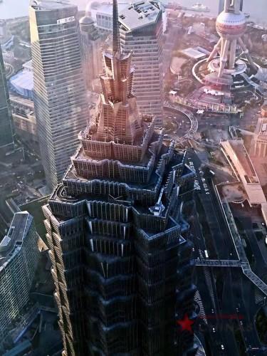 SWFCビル100階から見た上海