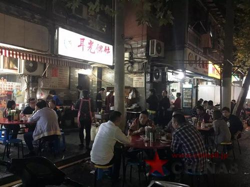 屋台 深夜 上海