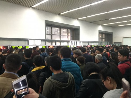 中国人専用の自動発券機カウンター