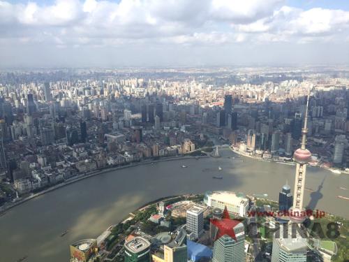 上海タワーから町を一望