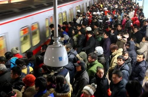 上海の地下鉄駅