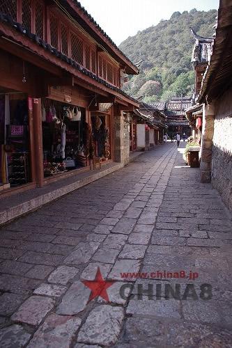 石畳の一本道
