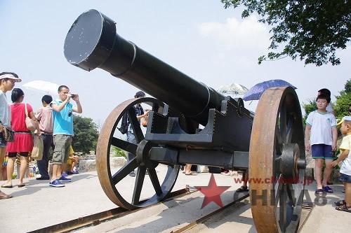 ショーに使われた大砲