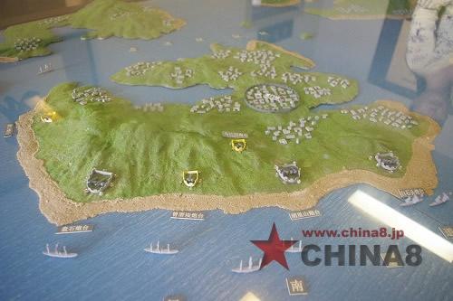 アモイ島の砲台の位置