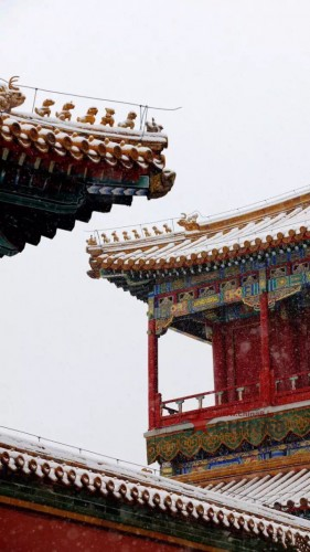 北京の初雪